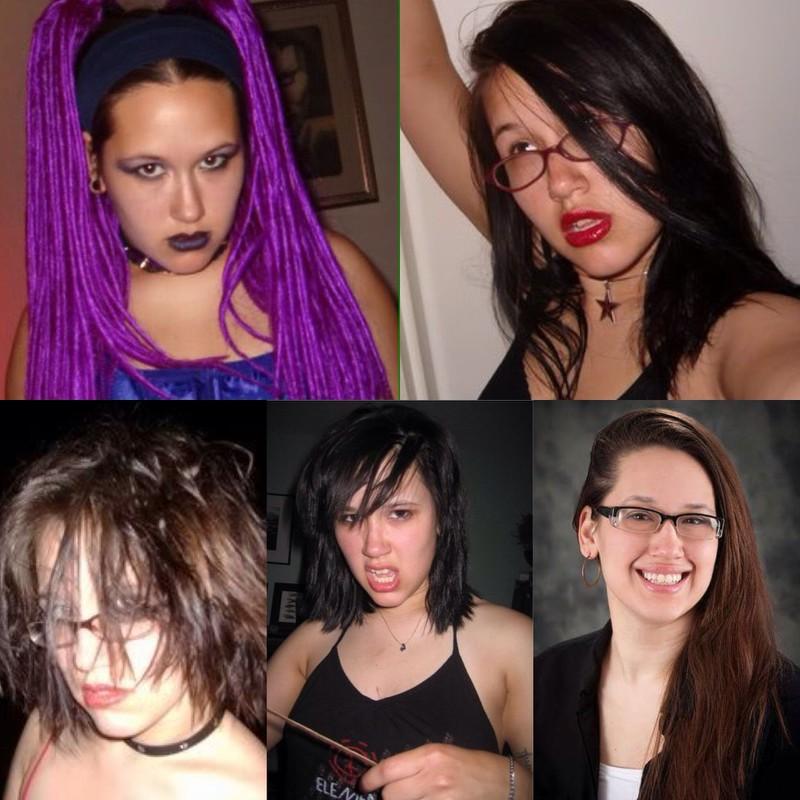 Eine Frau hat sich sehr verändert