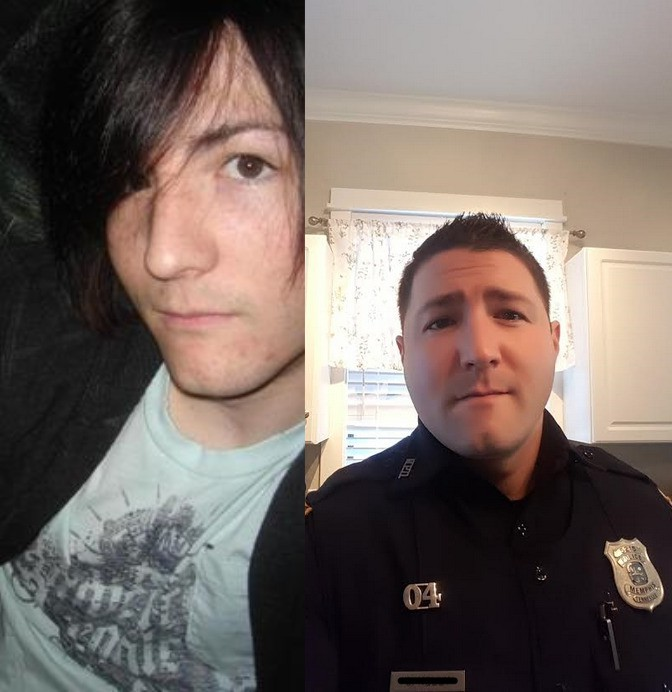 Emo von früher ist heute ein Polizist