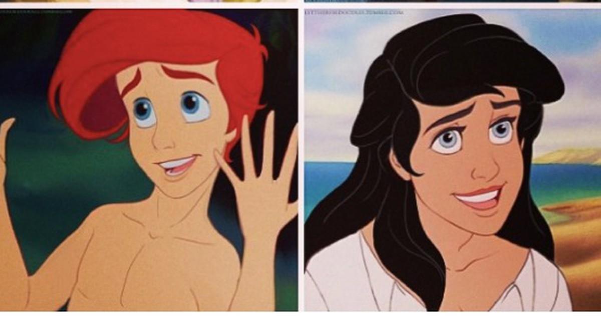 Wie sehen die Disney-Charaktere mit dem anderen Geschlecht aus