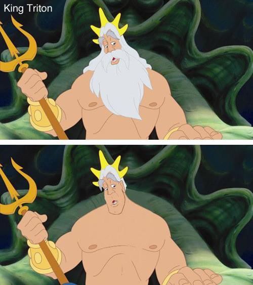 König Triton ohne Bart