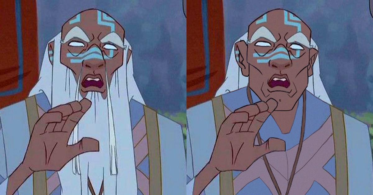 7 männliche Disney-Figuren und wie sie ohne Bart aussehen würden