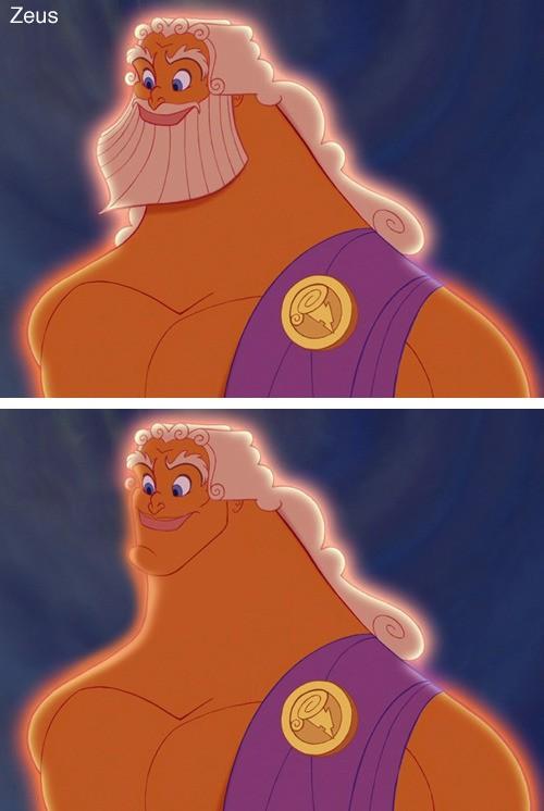 Zeus sieht ohne BArt komisch aus