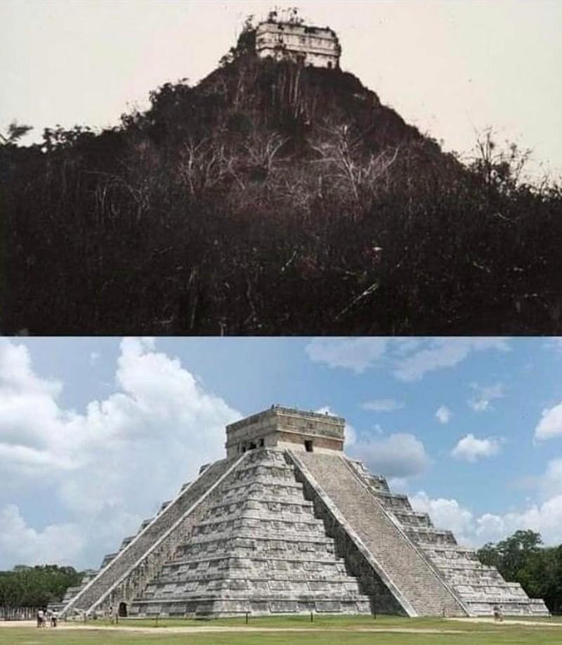 Chichen Itza 1892 und heute