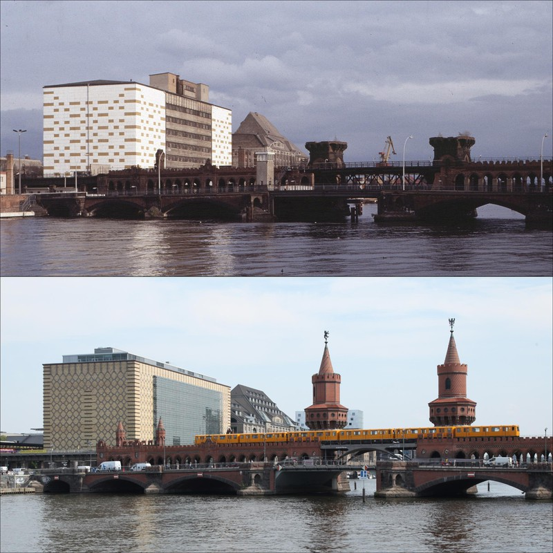 Die Oberbaumbrücke  1989 / 2019