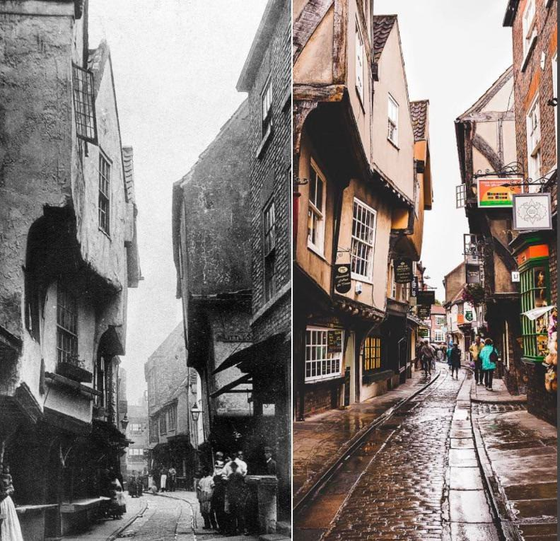 Die shambles in York (UK)