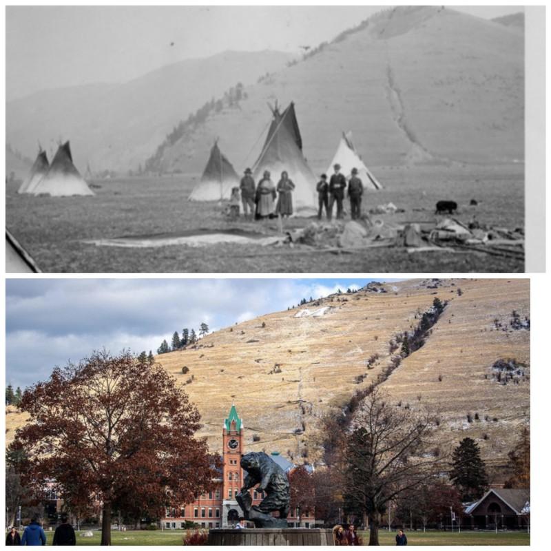 University of Montana mit 150 Jahren Unterschied