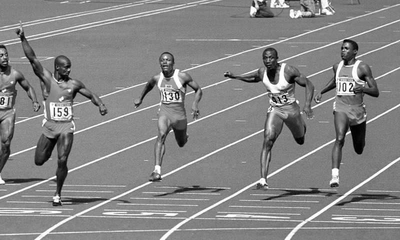 Carl Lewis gehört als Sprinter zu den Olympialegenden.
