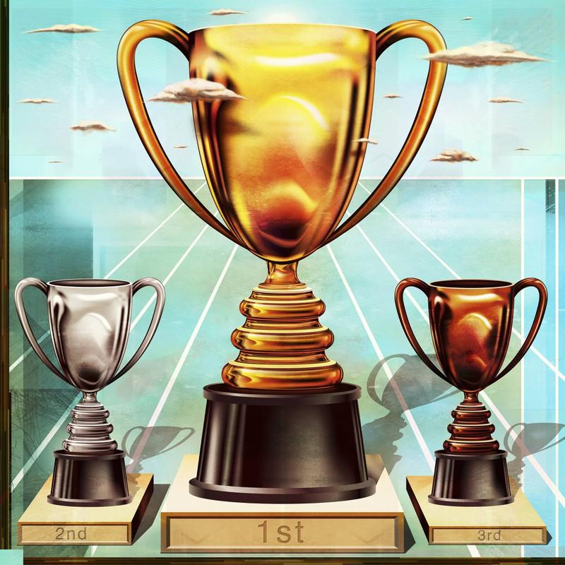 Ein Pokal für den 1. Platz