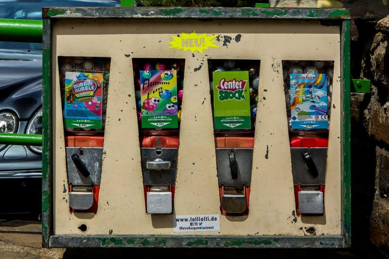 Alle kennen Kaugummiautomaten von früher.