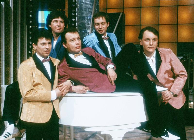 Die Spider Murphy Gang noch zu 5. in den 80ern.