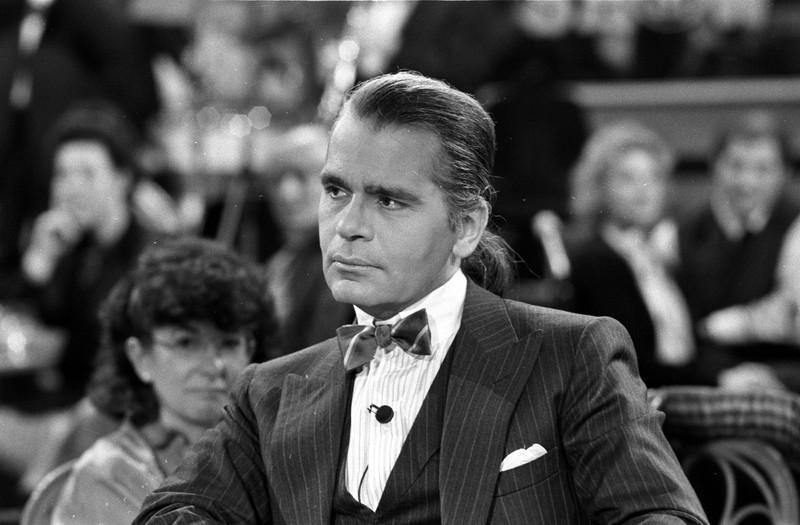 Karl Lagerfeld ohne Sonnenbrille