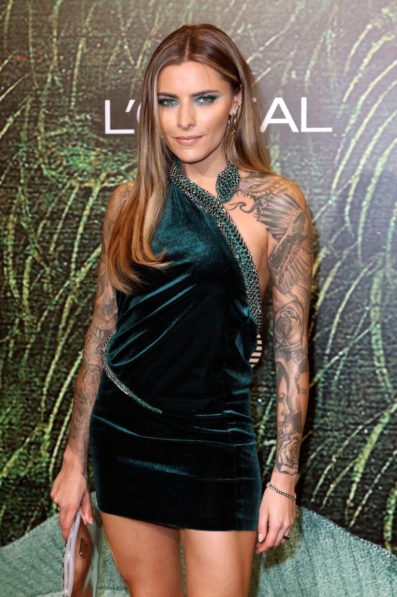Sophia Thomalla mit ihrem Markenzeichen: Den Tattoos