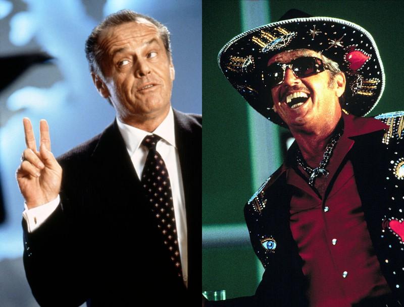 """Jack Nicholson, der im Film """"Mars Attack!"""" zwei Rollen spielt"""